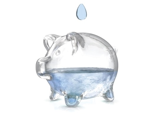 piggy bank water